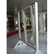 Fenêtres verticales en aluminium à double vitrage de haute qualité