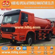 SINOTRUK HOWO 4x2 10000L vacuum sewage suction truck with vacuum pump WD615.92 266hp