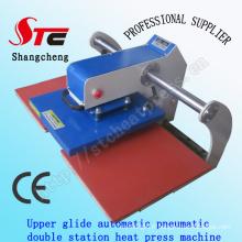 Glide supérieur automatique Station Double chaleur Press Machine 40 * 40cm T-Shirt pneumatique chaleur transfert Machine Double Station T Shirt Printing Machine Stc-Qd05