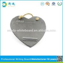No framed slate board heart design