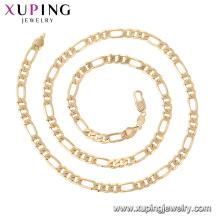 44754 Xuping Joyería al por mayor 18k collares de cadena de estilo simple chapado en oro