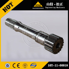 Peças sobressalentes de escavadeira TY160 SD16 SD22 eixo de turbina 16y-11-00018