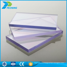 High quality low price twinwall 8mm hollow pc uv protected roofing sheet