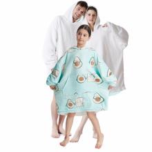 Personalized Huggle Hoodie Comfy Blanket Ultra Plush Giant Fleece Sweatshirt Oversized Hooded