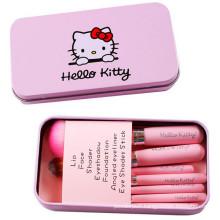 Christmas Gift Wholesale Synthetic Hair 7PCS Cute Hellokitty Makeup Brush Set