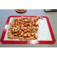 LFGB FDA Standard Food Grade Resistente ao calor Non-stick Silicone Baking Mat - Pacote de 2