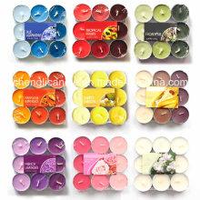 Velas decorativas coloridas da luz do chá da venda por atacado do Natal