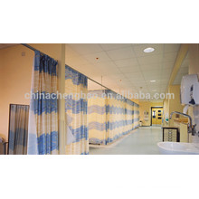 Pinch pleat top hospital partition curtain with drawing