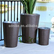 Vase -(11) home & garden furniture wicker/ PE rattan garden flower pot mould