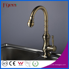 Fyeer Single Handle Antique Brass Kitchen Sink Faucet (QH1705)