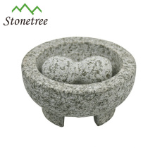 Wholesale Stone Molcajete Mortar and Pestle Granite Herb and Spice Tools