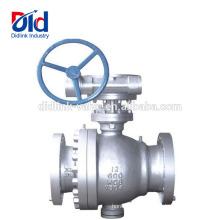 Fixer la double partie d'un étranglement en acier inoxydable 2.5 12 Actionneur de robinet à tournant sphérique en acier moulé Ansi de 12 commutateurs