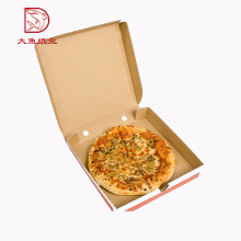China custom printed popular flat food pizza carton box