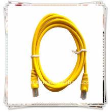 Premium CAT 5E Code de câble de raccordement pour réseau Ethernet Câble LAN 5 pi 5 'JAUNE