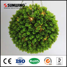 Custom lighted artificial topiary boxwood ball for mall decoration