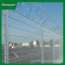 China atacado Certificado ISO galvanizado aço bobinado arame farpado