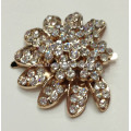 Alloy Rhinestone Fancy Shoe Buckle with Flower Design