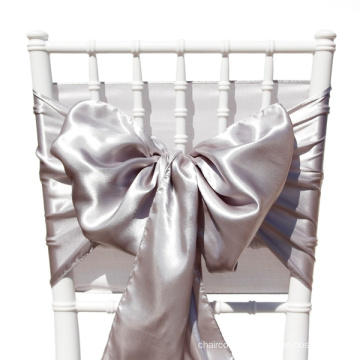 colorful satin chair sash. chair tie, chair bow ,wedding decoration