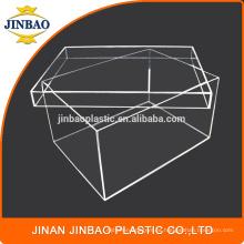 Caja de zapato de acrílico transparente de Jinbao caja de la zapatilla de deporte de plexiglás de 3 mm