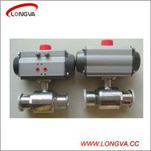 Actionneur pneumatique sanitaire à l'acier inoxydable 304 Valve à bille serrée