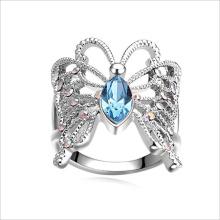 VAGULA бабочка Rhinestone мода кристалл кольцо