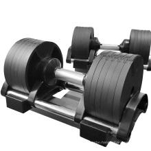 Commercial Fitness Body Building 32kg Adjustable Dumbbell Set