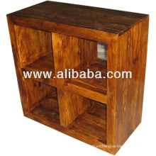 Cube design sheesham wood rack