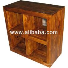 Cremalheira de madeira com suporte de cube sheesham