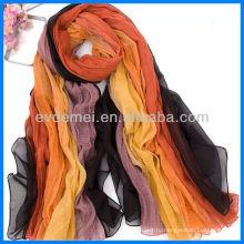 Модный изящный красочный шелковый шарф из пушмины
