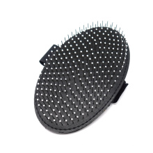 Stainless Steel Pin Round Tip - Pocket Rubber Brush Massage Pet Cleaning Products