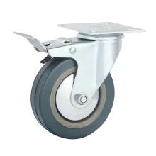 Rodas industriais de borracha cinza / PVC