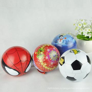 Пользовательские формы металла рождественские украшения, мяч форму олова, форму шара конфеты олово