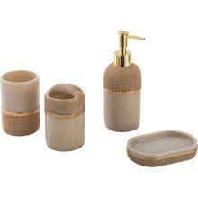 Ensemble d'accessoires de salle de bains en résine de vente chaude 4PCS