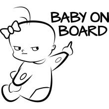 Baby On Aboard Car Tip Sticker For Car,Sample Custom Car Sticker Design