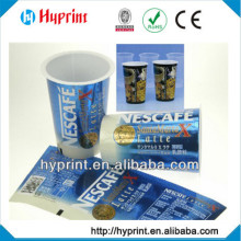 2015 hot sale first class custom IML In Mold Label for Nescafe