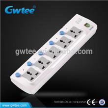 5-Wege-Sicherheitsüberlastung Einzelschalter Elektrisch geschaltete Steckdose
