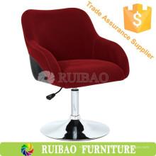 Королевский стиль Purplish Red Fabric Металлическая рама Регулируемая поворотная стойка для бара Оптовая