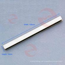 Encuadernación del borde del bolso plateado (S4-55S)
