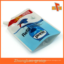 900ml resealable stand up laminated package laundry soap