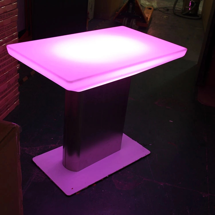 Plastic Material Led Luminous Tables