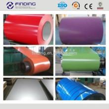 высокого качества ce стандарт ppgi покрашенный цвета с покрытием стальная катушка