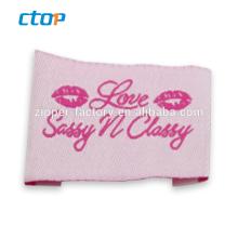 Any design custom garment and bag logo tag woven label