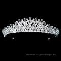 Neues Design Silber Kristall Strass Braut Tiara Krone Hochzeit Kopfbedeckung verstellbare Festzug Kronen
