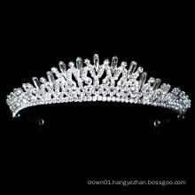 New Design Silver Crystal Rhinestone Bridal Tiara Crown Wedding Headpiece adjustable pageant crowns
