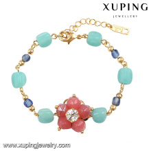 74587 мода Новый красочные бусины ювелирные изделия цветок Браслет 18k позолоченный