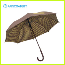 Wooden Handle Umbrella Adversting Straight Custom Printed Golf Umbrella 8ribs