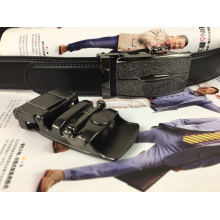 Ceintures de ceinture en cuir noir pour hommes (RF-160806)