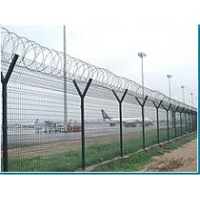 Airport Wire Mesh Zaun mit Stacheldraht