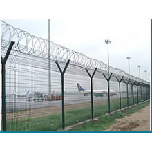 Airport Wire Mesh Fence with Barbed Wire