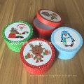 Nueva caja de regalo redonda de Navidad Caja de regalo redonda de papel pequeño